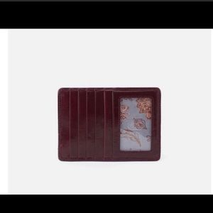 HOBO INTERNATIONAL EURO SLIDE WALLET DEEP PLUM